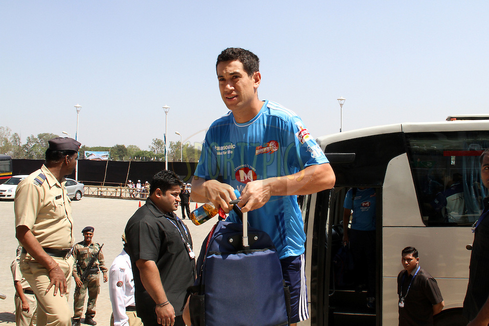 Ross taylor arrives for match 31 of the the Indian Premier League ( IPL) 2012  between The Pune Warriors India and the Delhi Daredevils held at the Subrata Roy Sahara Stadium, Pune on the 24th April 2012..Photo by Prashant Bhoot/IPL/SPORTZPICS