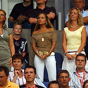 NLD/Amsterdam/20050729 - LG Amsterdam Tournament 2005, afscheid Rafael van der Vaart Ajax, Sylvie meis op de tribune