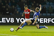 Goal scored by Middlesbrough midfielder Muhamed Besic (37)  during the EFL Sky Bet Championship match between Sheffield Wednesday and Middlesbrough at Hillsborough, Sheffield, England on 19 October 2018.