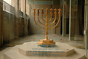 Israel Jerusalem Replica of the Menorah at The excavations at the cardo, old Roman street November 2005