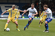 Millwall Forward, Steve Morison on the ballnduring the Sky Bet League 1 match between Bury and Millwall at the JD Stadium, Bury, England on 23 April 2016. Photo by Mark Pollitt.