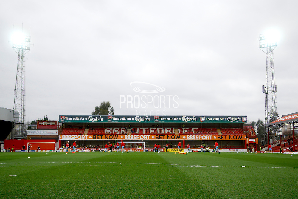 Griffin Park Stadium during the EFL Sky Bet Championship match between Brentford and Rotherham United at Griffin Park, London, England on 25 February 2017. Photo by Andy Walter.