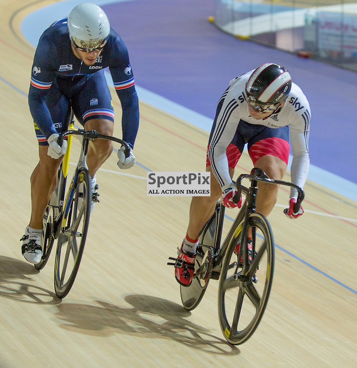 Action in the Men's Sprint at the Revoultion Series 2015/6 Round 1 Derby, Day 2, on 15 August 2015 ( (Photo by Mike Poole - Photopoole)