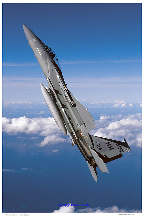 F-15A in vertical climb, air-to-air