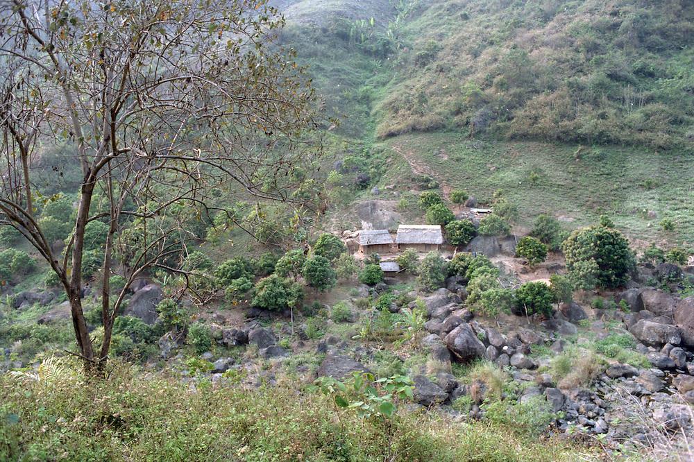Small village in the area of Dien Bien Phu.