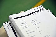 Nederland, Boxmeer, 16-5-2011Eindexamen VWO en HAVO bij het Elzendaal college. De examenopgeven Nederlands.Foto: Flip Franssen/Hollandse Hoogte
