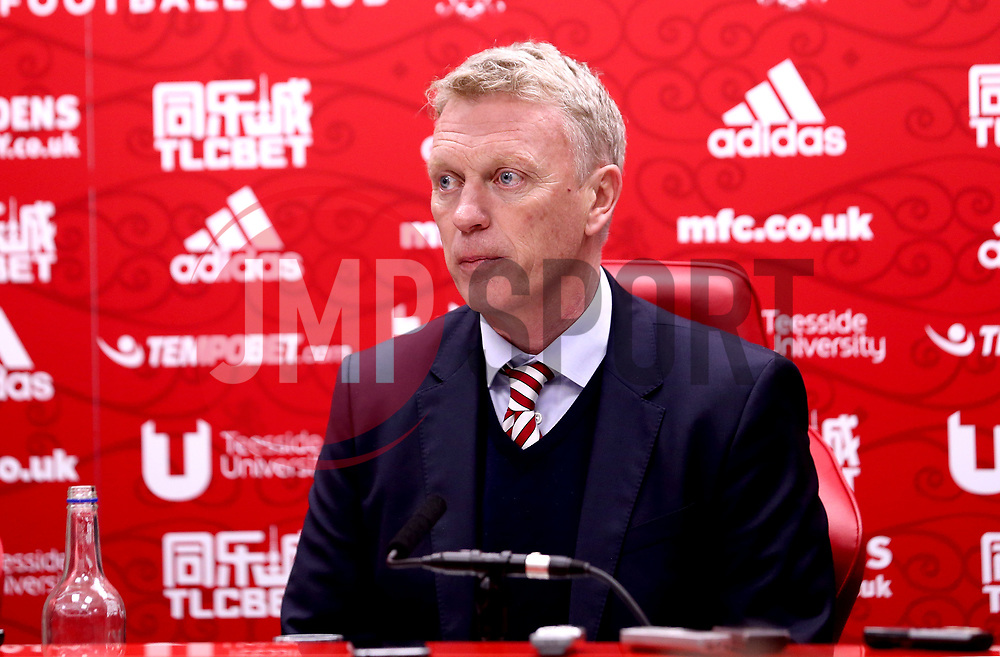 Sunderland manager David Moyes in his post match press conference after his side's defeat to Middlesbrough - Mandatory by-line: Robbie Stephenson/JMP - 26/04/2017 - FOOTBALL - Riverside Stadium - Middlesbrough, England - Middlesbrough v Sunderland - Premier League