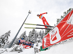 16.12.2017, Nordische Arena, Ramsau, AUT, FIS Weltcup Nordische Kombination, Skisprung, im Bild Aaron Kostner (ITA) // Aaron Kostner of Italy during Skijumping Competition of FIS Nordic Combined World Cup, at the Nordic Arena in Ramsau, Austria on 2017/12/16. EXPA Pictures © 2017, PhotoCredit: EXPA/ Martin Huber