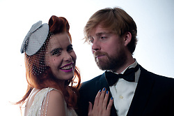 © Copyright licensed to London News Pictures. 18.10/2010. Paloma Faith & Ricky Wilson, backstage at the Royal Albert Hall. Musicians and composers from the world of film gather for Concert for Care, Royal Albert Hall, London.