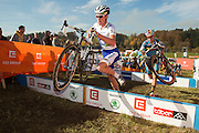 CZECH REPUBLIC / TABOR / WORLD CUP / CYCLING / WIELRENNEN / CYCLISME / CYCLOCROSS / VELDRIJDEN / WERELDBEKER / WORLD CUP / COUPE DU MONDE / #2 / U23 / MIKE TEUNISSEN (NED) / GIANNI VERMEERSCH (BEL) /