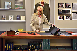 © Licensed to London News Pictures. 06/04/2016. KATHRYN SARGENT becomes the first female master tailor to open her own tailoring house in Savile Row. London, UK. Photo credit: Ray Tang/LNP