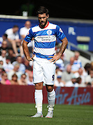 Charlie Austin (QPR striker) after missing an easy opportunity during the Sky Bet Championship match between Queens Park Rangers and Rotherham United at the Loftus Road Stadium, London, England on 22 August 2015. Photo by Matthew Redman.