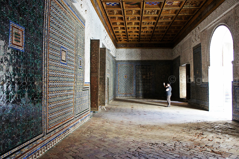 Photographs from the stunning stately home of Casa de Pilatos in Seville (Sevilla.) This building features mudejar tiles, arches, columns and beautiful gardens in Andalucia