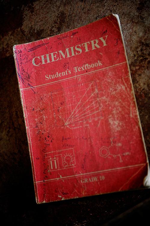 Ethiopia, India Selassie, Shire, chemistry book, school, elementary