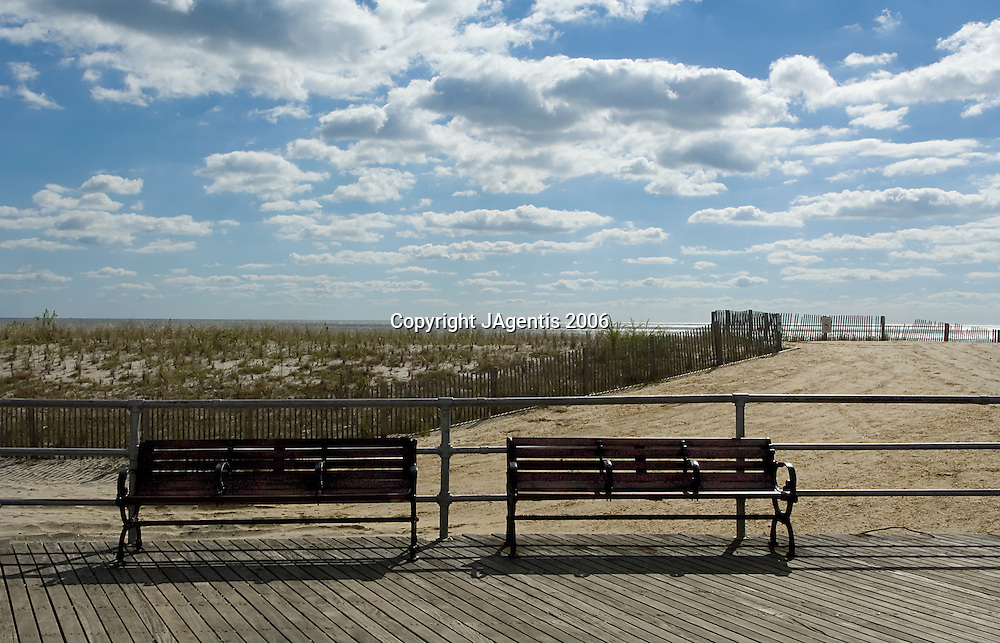 Benches On Atlantic City Boardwalk