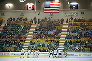 Fans watch the action during the women's hockey game between the New Hampshire Wildcats and the Vermont Catamounts at Gutterson Field House on Friday night February 3, 2017 in Burlington. (BRIAN JENKINS/for the FREE PRESS)