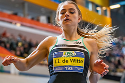Lisanne de Witte win the 200 meter during the Dutch Indoor Athletics Championship on February 23, 2020 in Omnisport De Voorwaarts, Apeldoorn