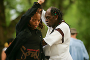 People dancing at Central Park, New York.