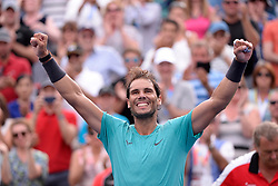 Spain's Rafael Nadal celebrates his win over Russia's Daniil Medvedev in the final of the Rogers Cup tennis tournament in Montreal, Sunday, August 11, 2019. Photo by Paul Chiasson/CP/ABACAPRESS.COM