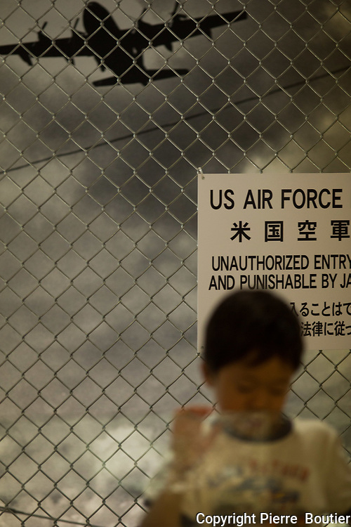 April 22, 2017, Okinawa, Kadena  air base  , atmosphere  at  views  spots  near Kadena  air base April 22, 2017, Okinawa, Kadena  air base  ,  military escalate between North Korea and  Us army since Trump Us president sent US  armada  near Australia  and North Korea ,DPRK regime  declare it is ready to start a war against US base and allies . Pierre Boutier
