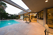 Poolside area of palm Springs home