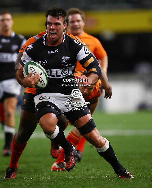 DURBAN, SOUTH AFRICA - SEPTEMBER 10: Francois Kleinhans of the Cell C Sharks during the Currie Cup match between the Cell C Sharks and Toyota Cheetahs at Growthpoint Kings Park on September 10, 2016 in Durban, South Africa. (Photo by Steve Haag/Gallo Images)