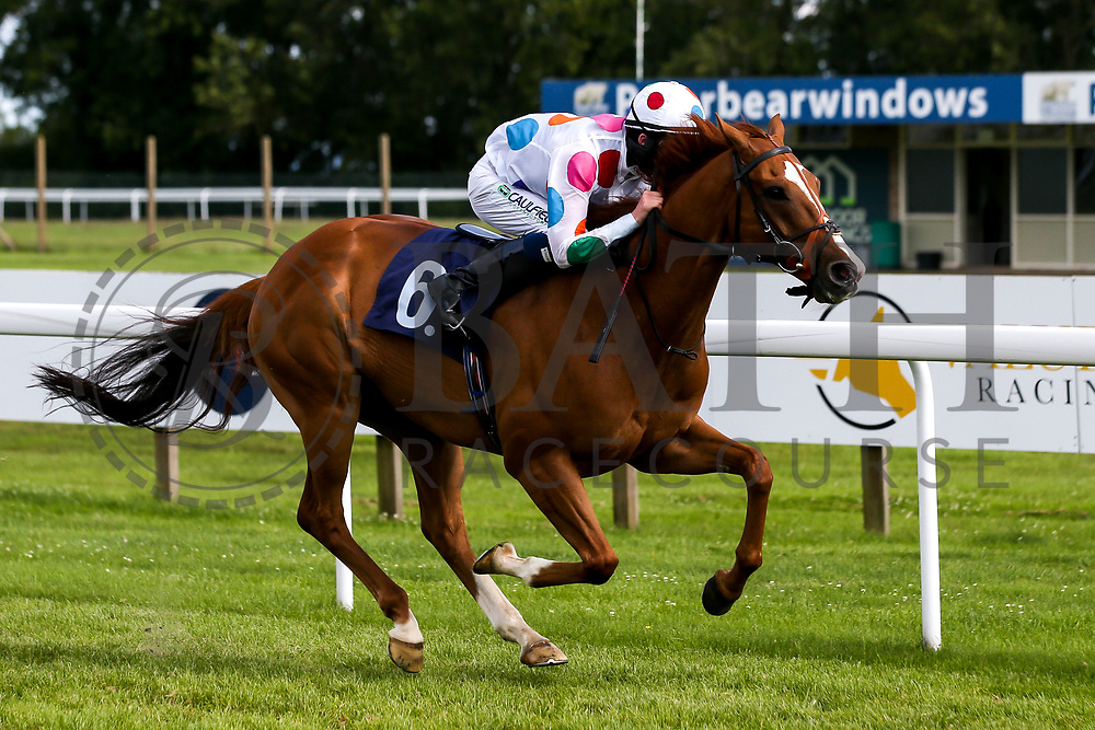 King Crimson ridden by Darragh Keenan and trained by Sean Curran in the Attheraces.co.uk Handicap - Mandatory by-line: Robbie Stephenson/JMP - 18/07/2020 - HORSE RACING- Bath Racecourse - Bath, England - Bath Races 18/07/20