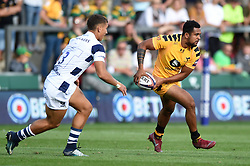 Zach Kibirige of Wasps in action - Mandatory byline: Patrick Khachfe/JMP - 07966 386802 - 14/09/2019 - RUGBY UNION - Franklin's Gardens - Northampton, England - Premiership Rugby 7s (Day 2)