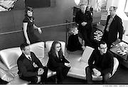 Le Grand jury PEA_09 (Prix d'excellence en architecture 2009 de l'OAQ, Ordre des architectes du Québec) .De gauche à droite : Paul Faucher, architecte, Espace Vital (Sherbrooke) ; Marie Eve Primeau, stagiaire en architecture, observatrice (Montréal) ; Dominique Gauzin-Müller, architecte auteure et journaliste, présidente du jury (Stuttgart, Allemagne) ; Manon Asselin, architecte principale de l'atelier TAG, Professeur d'architecture - Ecole d'architecture de l'Université de Montréal ; Dinu Bumbaru, directeur des politiques - Héritage Montréal et.Co-président du comité scientifique international sur la préparation aux risques - Conseil international des monuments et des sites ; Jacques White, architecte, directeur de l?École d'architecture de l'Université Laval (Québec) ; Alexandre Massé, stagiaire en architecture, observateur (Montréal).  -  Hotel Gault / Montreal / Canada / 2009-01-20, © Photo Marc Gibert / adecom.ca