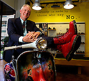 Bob Boyl is vice president of The Rise Group, he being point man on the rollout of the new Dr. Martens store on Broadway.  Here he sports a pair of red steel-toed 1919s.