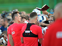 ARLAMOW, POLAND - MAY 30: Arkadiusz Milik during a training session of the Polish national team at Arlamow Hotel during the second phase of preparation for the 2018 FIFA World Cup Russia on May 30, 2018 in Arlamow, Poland. MB Media