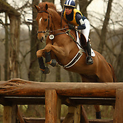 Jan Bynny (USA) and Dario at the Morven Park Spring Horse Trials held in Leesburg, Virginia