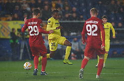 December 13, 2018 - Vila-Real, Castellon, Spain - Samu Chukwueze of Villarreal CF and ilya Kutepov of Spartak Moscow during the UEFA Europa League Group G match between Villarreal CF and Spartak Moscow at Estadio de la Ceramica on December 13, 2018 in Vila-real, Spain. (Credit Image: © AFP7 via ZUMA Wire)