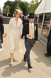 MR JOHN & LADY CAROLYN WARREN at the ist day of the 2008 Royal Ascot racing festival on 17th June 2008.<br />