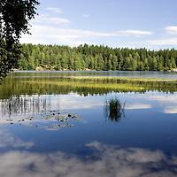 Idyllic images of Sognsvann lake, Oslo.