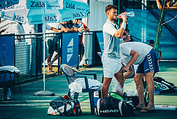 Sven Lah (SLO) plays against Franko Skugor (CRO) at 2nd Round of ATP Challenger Zavarovalnica Sava Slovenia Open 2017, on August 9, 2017 in Sports centre, Portoroz/Portorose, Slovenia. Photo by Vid Ponikvar / Sportida