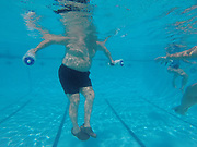 Water Aerobics is a healthy way to exercise without injury. Many elderly people use the pool to help with arthritis.