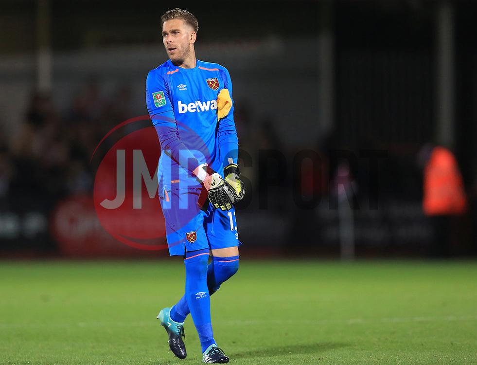 Adrian of West Ham United - Mandatory by-line: Paul Roberts/JMP - 23/08/2017 - FOOTBALL - LCI Rail Stadium - Cheltenham, England - Cheltenham Town v West Ham United - Carabao Cup