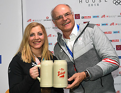 16.02.2018, Austria House, Pyeongchang, KOR, PyeongChang 2018, Medaillenfeier, im Bild Katharina Gallhuber, Karl Stoss // during a medal celebration of the Pyeongchang 2018 Winter Olympic Games at the Austria House in Pyeongchang, South Korea on 2018/02/16. EXPA Pictures © 2018, PhotoCredit: EXPA/ Erich Spiess