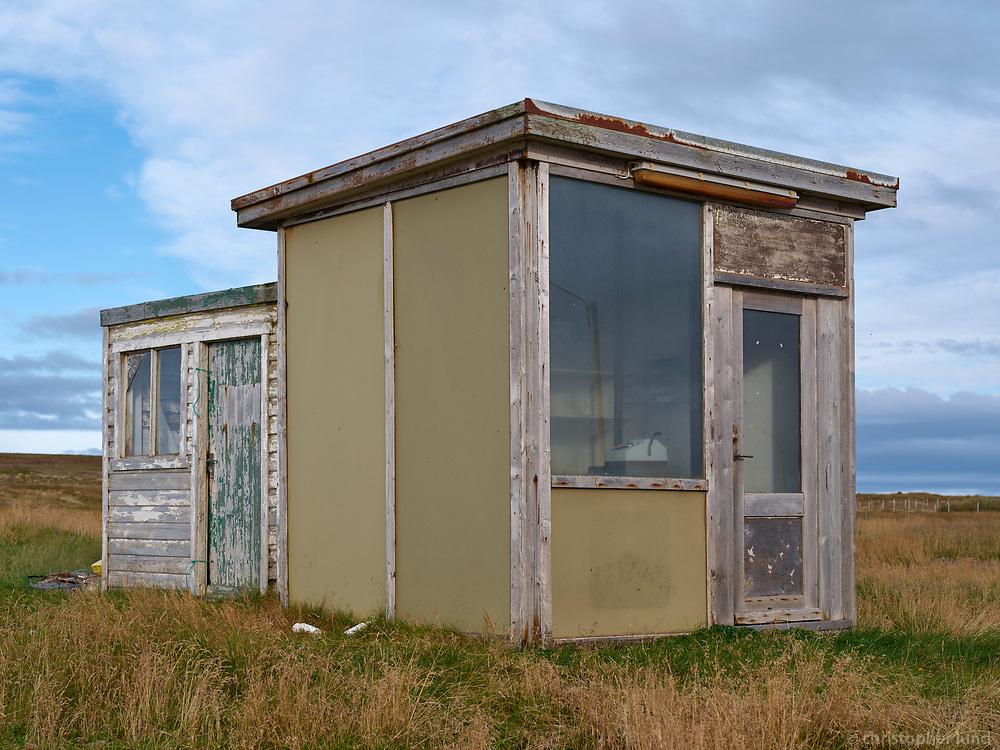 Old store house. From Gjögur fishing village in Árneshreppur, Strandir area in Northwest Iceland.