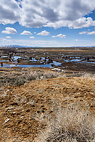 Eastern overlook of the wetlands in Arapaho National Wildlife Refuge. Image three of seven taken with a Nikon D3 camera and 14-24 mm f/2.8 lens (ISO 200, 23 mm, f/16, 1/200 sec). Panorama composed using Auto Pano Giga Pro.