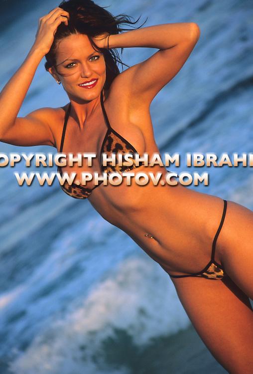 Sexy Brunette woman in bikini, Cancun, Mexico