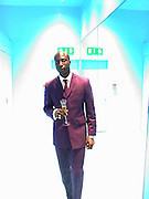 Oswald Boateng. Marni shop opening. Sloane St. London. 25 October 2000. © Copyright Photograph by Dafydd Jones 66 Stockwell Park Rd. London SW9 0DA Tel 020 7733 0108 www.dafjones.com