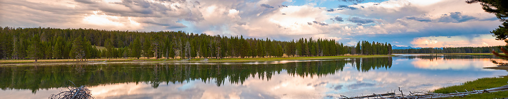 Yellowstone River reflecting at sunset.  Limited Edition - 75