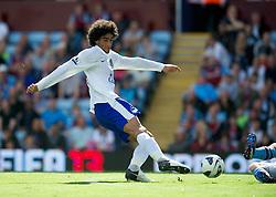 BIRMINGHAM, ENGLAND - Saturday, August 25, 2012: Everton's Marouane Fellaini in action against Aston Villa during the Premiership match at Villa Park. (Pic by David Rawcliffe/Propaganda)