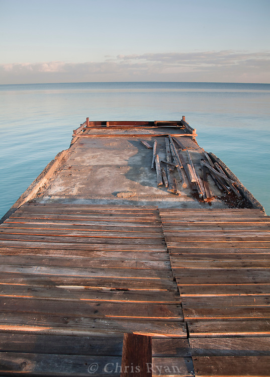 Unfinished pier at dawn, Cayo Levisa, Cuba