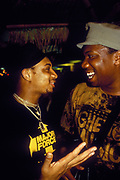 Red Alert and KRS One chilling, U.K, 1980s.