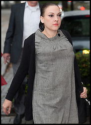 Anna Larke former girlfriend  of Comedian Justin Lee Collins arriving at St Albans Crown Court to give evidence against him accusing him of continued harrasment. Monday October 1, 2012. Photo by i-Images