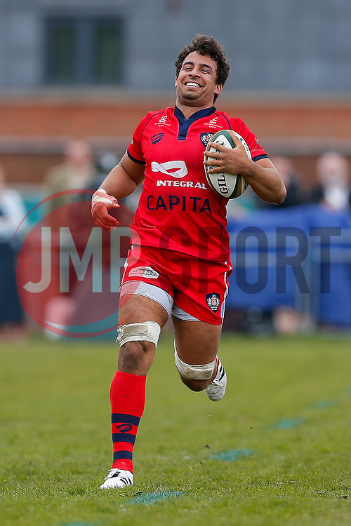 Bristol Rugby Flanker Marco Mama - Photo mandatory by-line: Rogan Thomson/JMP - 07966 386802 - 10/05/2015 - SPORT - RUGBY UNION - Abbeydale Park, Sheffield - Rotherham Titans v Bristol Rugby - Greene King IPA Championship Play Off Semi Final Second Leg.