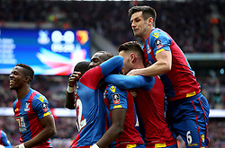 Yannick Bolasie of Crystal Palace celebrates with his teammates after opening the scoring - Mandatory by-line: Robbie Stephenson/JMP - 24/04/2016 - FOOTBALL - Wembley Stadium - London, England - Crystal Palace v Watford - The Emirates FA Cup Semi-Final